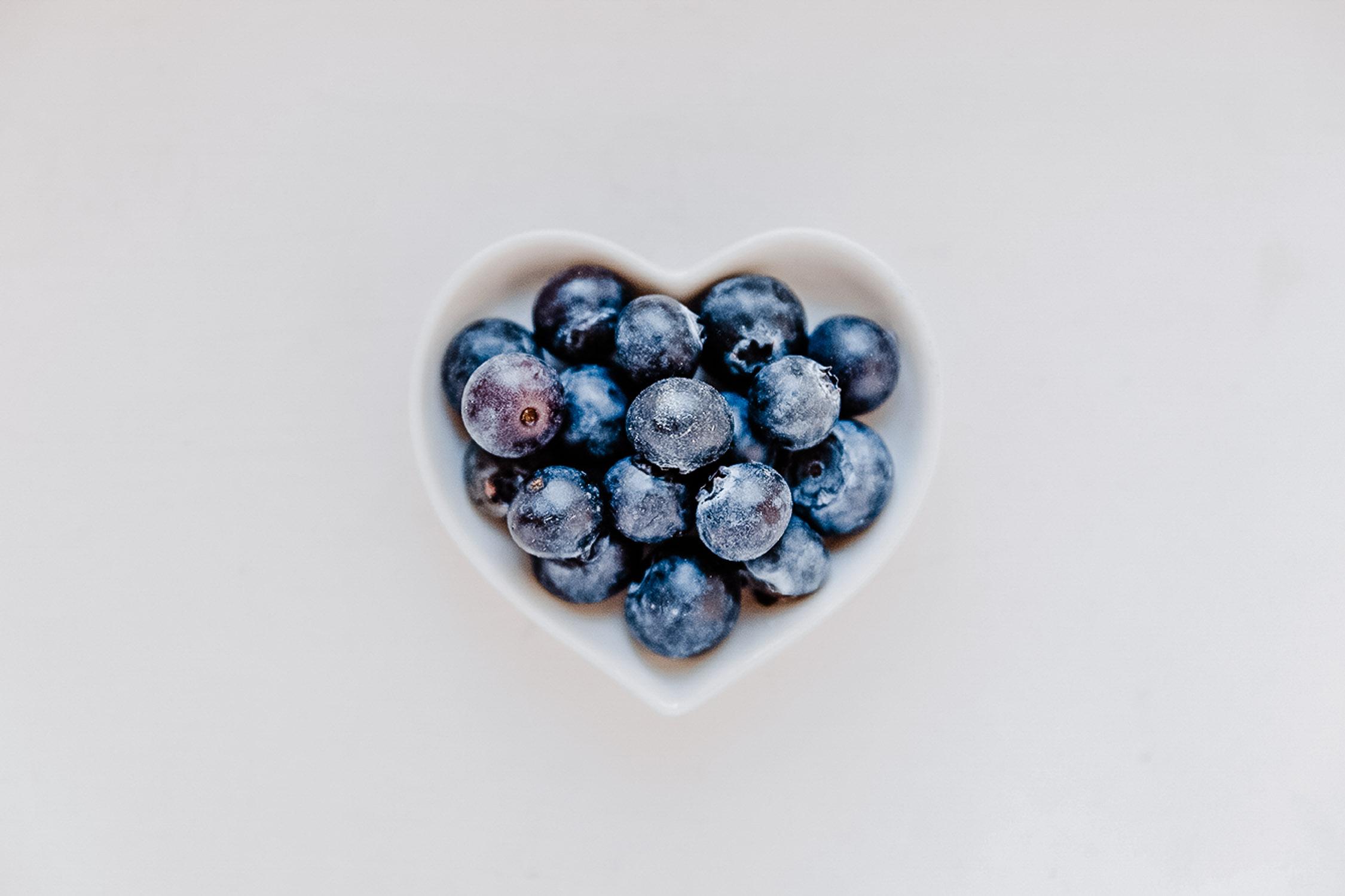 Food Fotografie, Blaubeeren